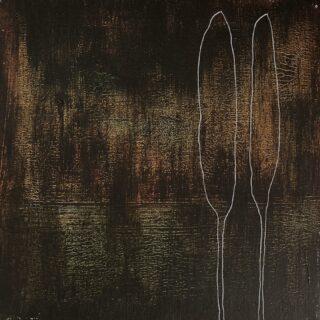 Poplars by night/populieren in de nacht 20 x 20 cm, acrylic and ink on canvas #acrylicpainting #acrilycart #acrylicartist #acrylicartoninstagram #kunst #modernpainting #modernart #zeitgenössischekunst