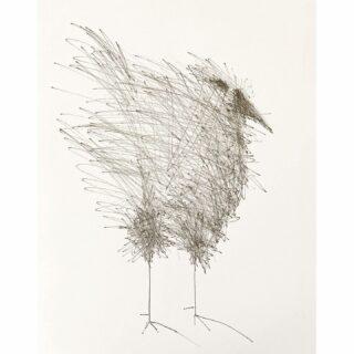 Birds, ink on paper 24 x 30 cm #birds #birdsofinstagram #birdsinart #inkonpaperdrawing #inkttekening #drawing #tekening #pentekening