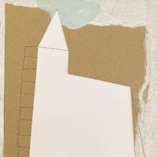 Castle mixedmedia/papercollage 24 x 24 cm #papercollage #paperart #mixedmedia #mixedmediaart #contemporaryart #modernart #collagekunst #collagekunstner