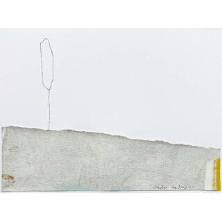 Poplars/populieren collage/ink 19x14 cm #populier #collageart #collage #collageartist #artonpaper #modernartist #minimalism #minimalart