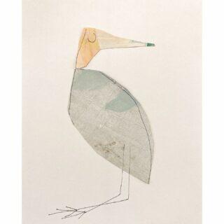 Birds, mixed media/collage 24 x 30 cm #birdsinart #collagekunst #mixedmediaartwork #mixedmedia #paperart #paperartist #zeitgenössischekunst #artemoderna #androdejongart #androdejong #dutchartist #dutchart